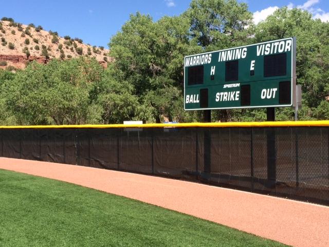 Jemez Baseball Scoreboard
