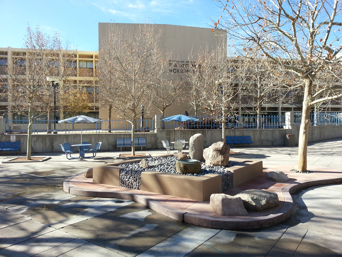 UNM HSC Fountain Renovation - After renovation