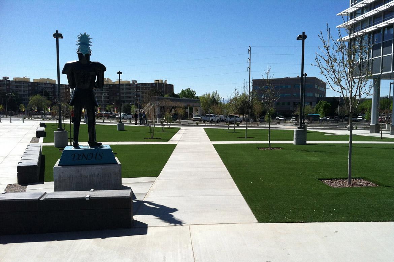 Del Norte High School Entry Courtyard