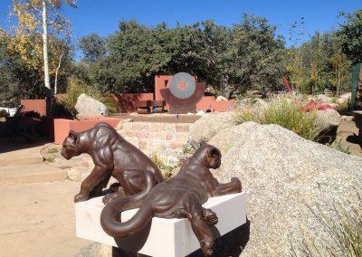 Sandia Heights Backyard Sculpture Garden