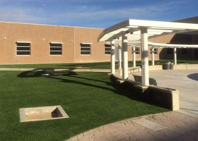 Los Lunas High School Courtyard